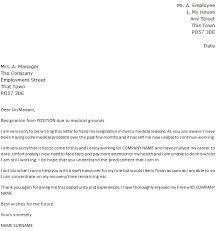 mesmerizing immediate resignation letter for medical reason sample