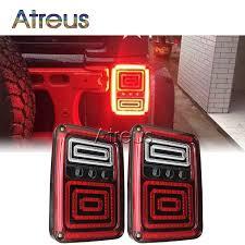jeep jk led tail light bulb atreus car led tail lights for jeep wrangler jk 07 15 us or euro