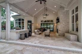 vaulted ceiling on covered patio cottage deck patio