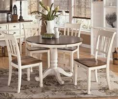 White Brown Round Farmhouse Dining Table Robertson Kitchen