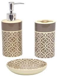 majestic beige bathroom accessories set marble bath accessories
