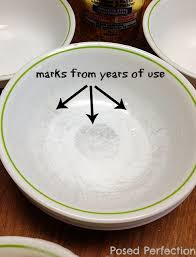posed perfection how to clean silverware marks from corelle dishes