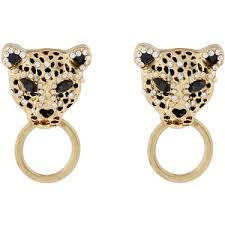 clip on earrings accessorize accessorize leopard statement stud earrings polyvore