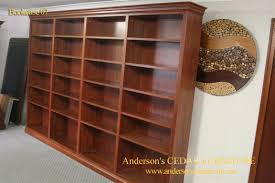 Narrow Wooden Bookcase by Furniture Home Yew Wood Narrow Long Open Bookcase Design Modern