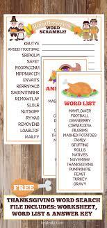 thanksgiving worksheet word scramble thanksgiving worksheets