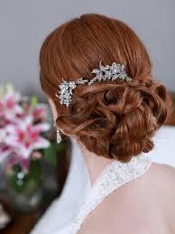 hair brooch silver hair combs rhinestone bridal hair comb vintage hair