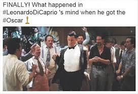 Leonardo Dicaprio Meme Oscar - leonardo dicaprio s oscar win has the internet exploding with