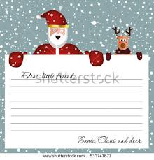 letters from santa claus letter santa claus design template stock vector 533741677