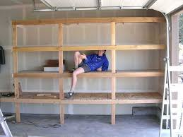 Garage Build Plans by Free Plans To Build Garage Shelving Using Only 2x4s Easy And