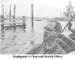 how to turn a photo into a charcoal sketch or drawing