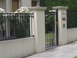 ideas about brick fence iron fences newest various outside wall
