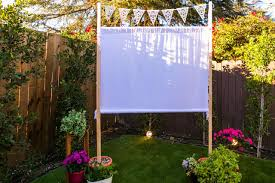 Make Your Own Outdoor Rug by How To Make An Easy Outdoor Movie Screen Hgtv