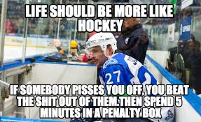 Funny Nhl Memes - life should be more like hockey meme