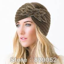 beaded headbands women s beaded knitted wool headbands boho flower turban wrap