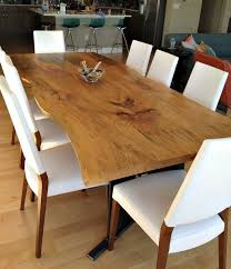 hand made bookmatched live edge sycamore dining table by donald
