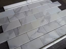bed u0026 bath outstanding calacatta marble subway tile with bullnose