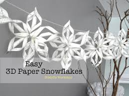 3d origami beginner tutorial easy 3d origami paper snowflake tutorial youtube