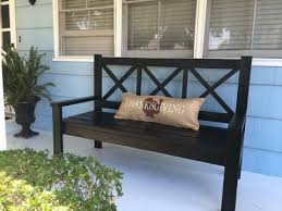 Outdoor Wooden Bench Diy by Best 25 Porch Bench Ideas On Pinterest Front Porch Bench Ideas