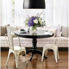 42 Dining Table Sidney Dining Table Rounded Top Black Dining Table