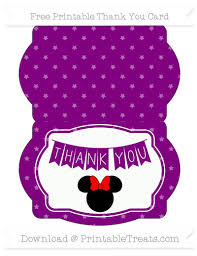 minnie mouse thank you cards purple pattern minnie mouse thank you card printable treats