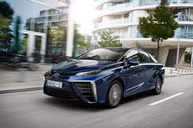 hydrogen fuel cell car toyota toyota mirai 2015 hydrogen fuel cell vehicle review by car magazine