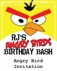 easy diy angry birds birthday party invitations with tutorial