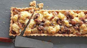 cauliflower and chestnut tart