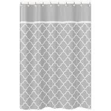Overstock Shower Curtains Sweet Jojo Designs Grey White Trellis Shower Curtain Overstock