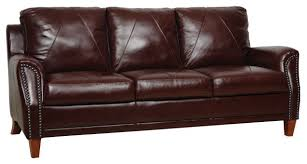 Genuine Leather Sofa And Loveseat Genuine Italian Leather Sofa In Sienna Traditional Sofas By
