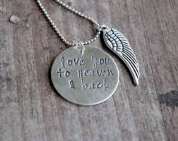Personalized Memorial Necklace Heaven Jewelry Etsy