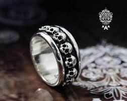 silver skeleton ring holder images Silver skull ring etsy jpg