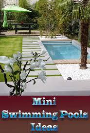 mini pool small backyard home outdoor decoration
