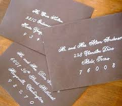 wedding invitations addressing diy wedding idea faux fancy handwriting design sponge