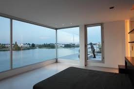 Minimalist Home Design Interior Mesmerizing Open Glass Windows From Beach House Interior House