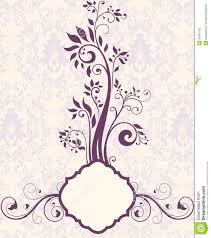 Bridal Invitation Cards Purple Floral Bridal Shower Invitation Royalty Free Stock Photo