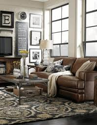 Light Brown Leather Sofa Living Room Ideas Brown Leather Couch Square Drum Shade Crystal
