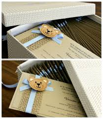 order of the week custom teddy bear baby shower invitations b