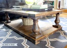 diy square coffee table diy restoration hardware inspired coffee table