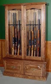 Wood Gun Cabinet Wood Gun Cabinets Gun Racks Rifle U0026 Handgun Displays