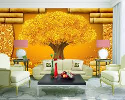 aliexpress com buy rich goldern tree fortune diy 3d wallpaper