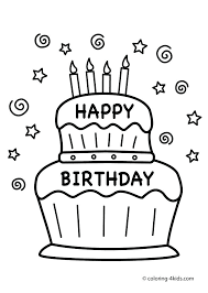 coloring pages happy boy birthday cake color a happy boy with happy birthday cake coloring