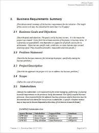 business requirements document template word 11 business