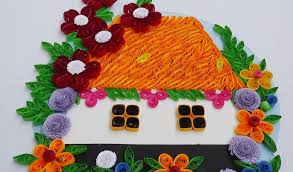 decorating home with flowers paper quilling how to make beautiful house with flowers paper