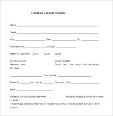 5 plumbing contract templates u2013 free word pdf format download