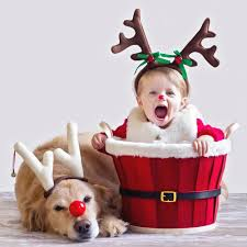 baby christmas adorable baby and puppy christmas picture ideas popsugar