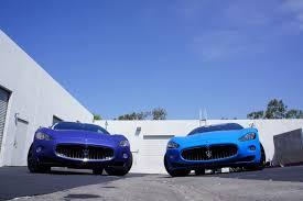 maserati light blue duo of maserati granturismo by the r u0027s tuning gtspirit