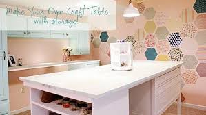 Diy Craft Desk With Storage Diy Craft Table With Storage Knock It The Live Well Network