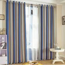 navy stripe curtain