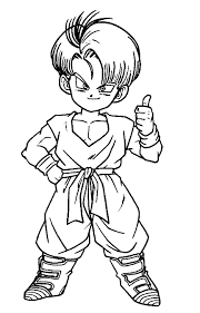 animations 2 coloring pages dragon ball