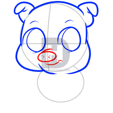 how to draw a pig for kids step by step animals for kids for